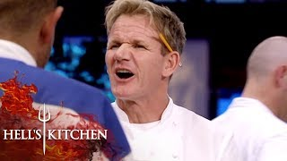 Raw White Fat Makes Gordon Ramsay Kick Off The Team | Hell's Kitchen