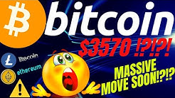 MASSIVE MOVE COMING FOR BITCOIN LITECOIN ETHEREUM and the DOW JONES!!!! crypto trading, TA, news,