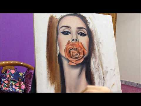 lana del rey (oil painting)