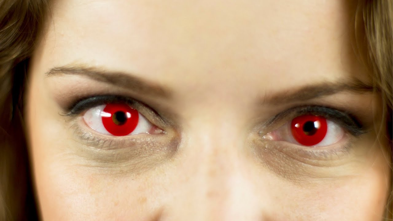 Image result for red contact lenses