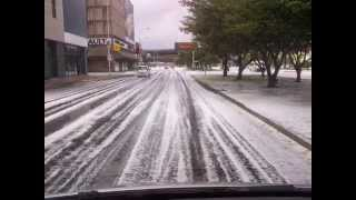 Snow, Snow, Beautiful Snow in Cape Town (hail actually but it looked like it had been snowing :))
