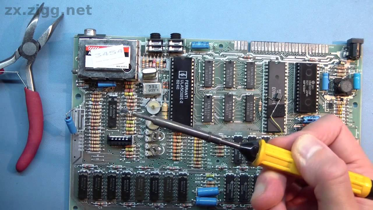 replacing electrolytic capacitors in a zx spectrum youtube