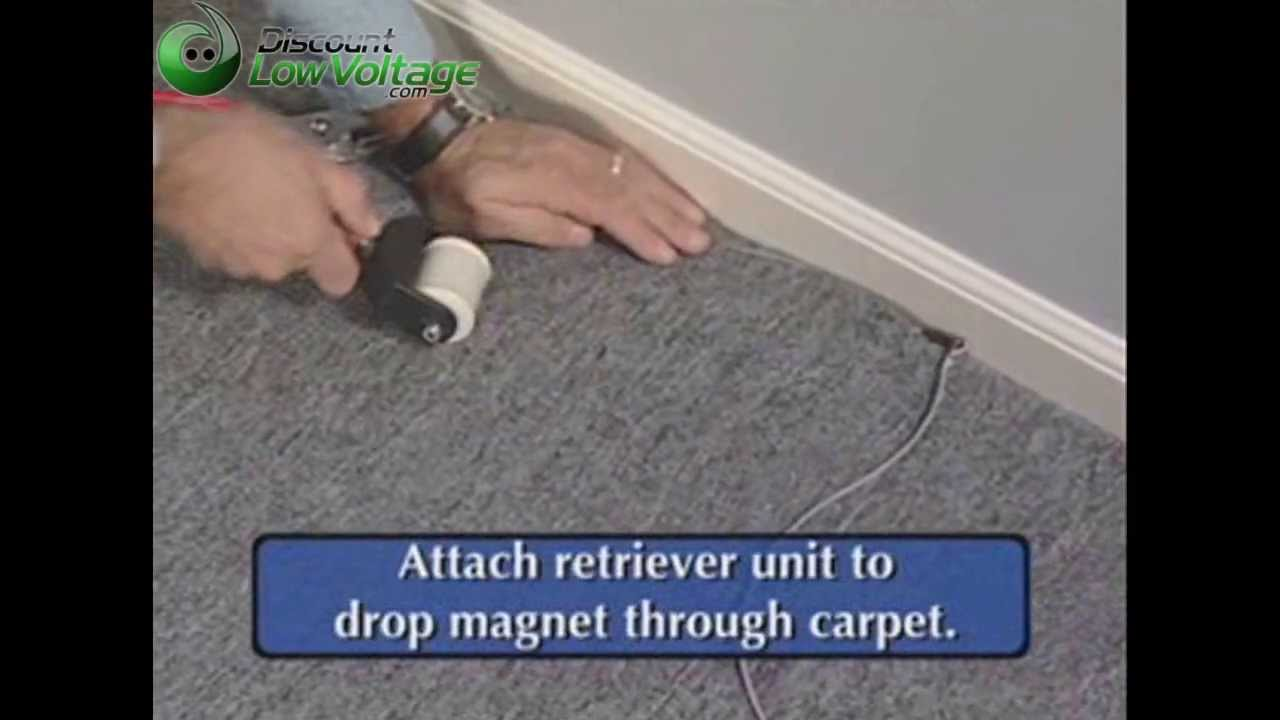How To Pull Cable Wire Under Carpet Youtube Hide Wires Wall Mount Tv Outlet On Basic Wiring Outlets