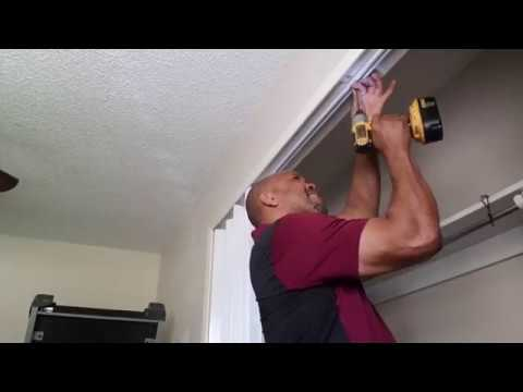 How to install Accordion  space saving Folding Doors