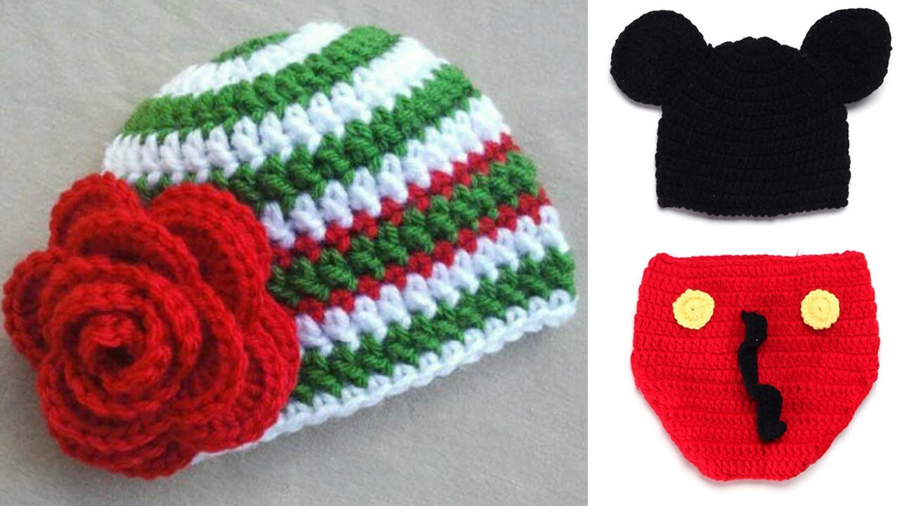 Free Crochet Patterns For Baby Hats And Booties Youtube
