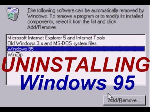 UNINSTALLING Windows 95