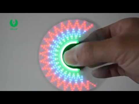 LED Message Flashing Hand Spinner, Led Message Fidget Spinner