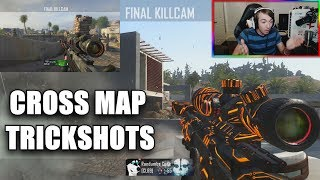 MY FANS HIT INSANE CROSS MAP TRICKSHOTS! (CRAZY REACTION)