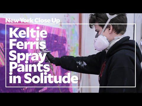 Keltie Ferris Spray Paints in Solitude |