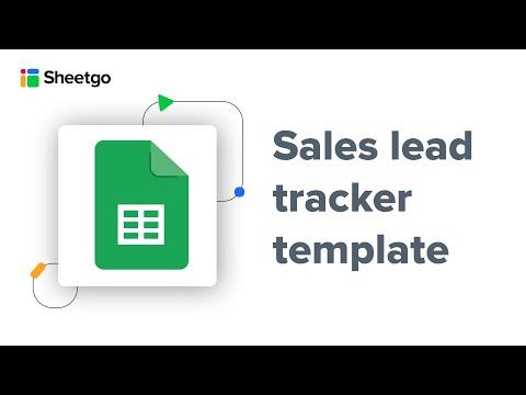 Sales lead tracker template by Sheetgo