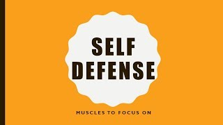 Self Defense: Muscles to Focus on to be Self Defense Ready
