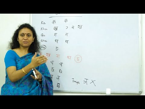 Learn Hindi script (Devanagari) Alphabets Vowels & Consonants  - Part 1 of 4