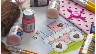 Pintura em tecido – Tema para pintar em fralda super fácil