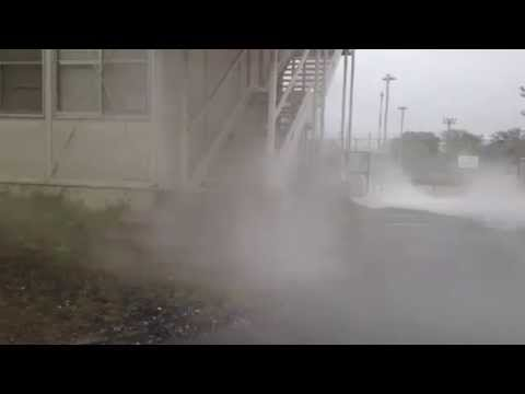 Accident of liquid nitrogen spills