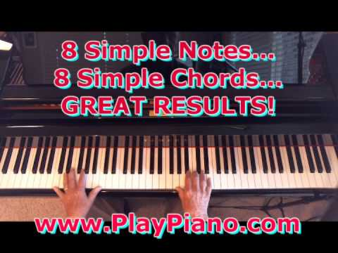 8 Simple Notes - 8 Simple Chords - Great Chord Progression!