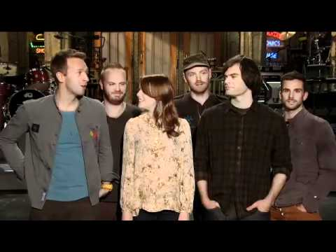 Emma Stone & Coldplay SNL Promo