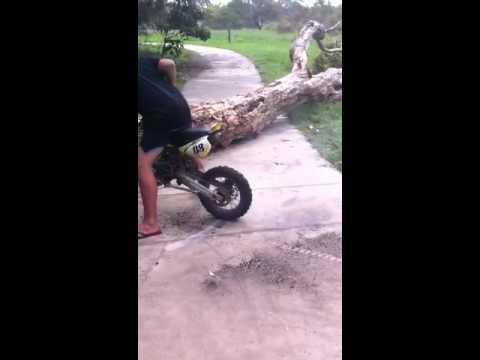 125cc Dirt Bike Doing Burnout