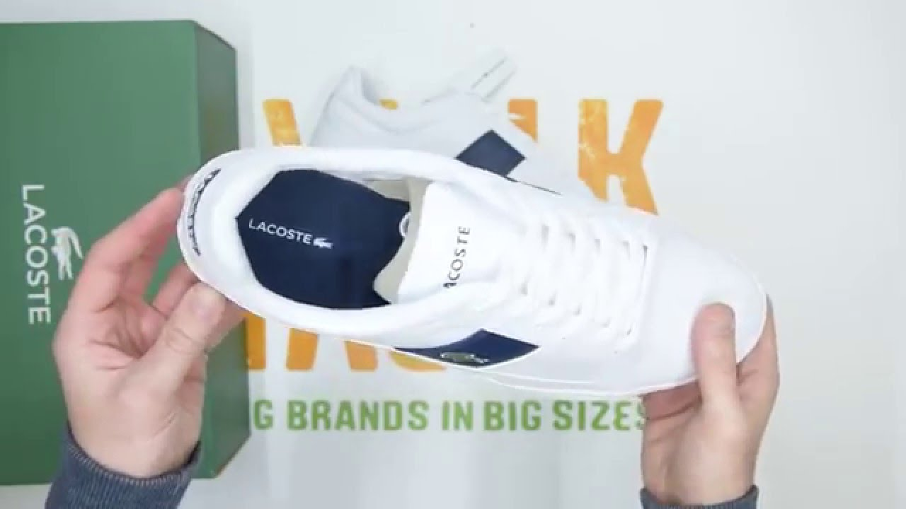 Lacoste Europa LCR - White   Dark Blue - Walktall   Unboxing   Hands ... 53486078a1