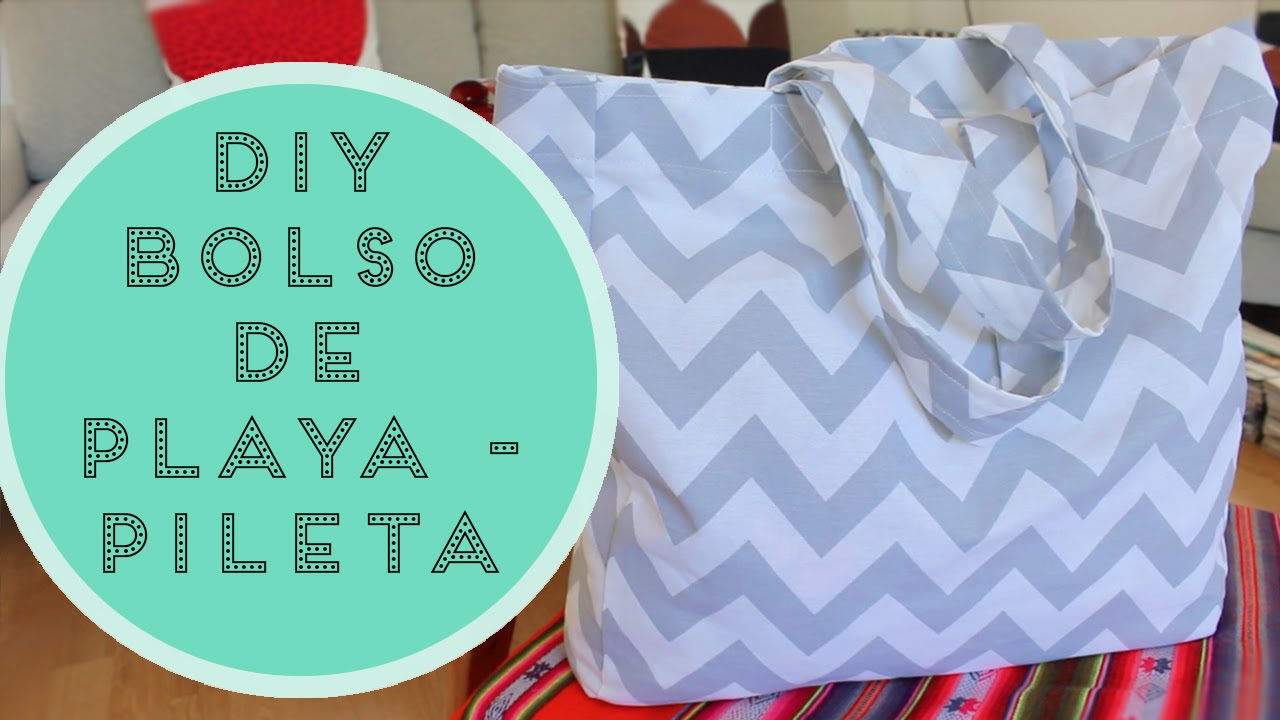 Diy bolso de playa pileta youtube for Como hacer una pileta de hormigon