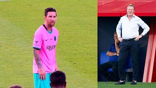 This is WHAT HAPPENED on 63th minute, when KOEMAN decided to sub MESSI! Barcelona - Girona