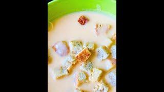 Сырный крем-суп очень БЫСТРЫЙ рецепт (Cheese Cream Soup Is A Very QUICK Recipe)
