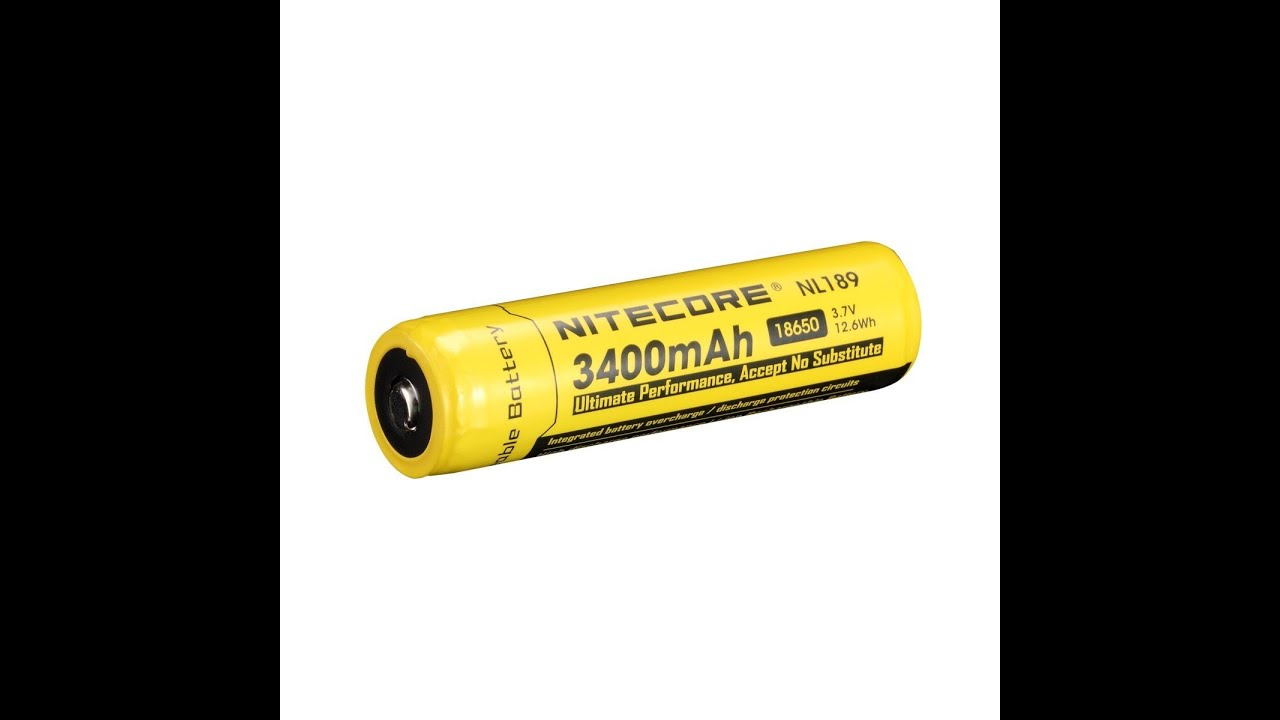 Nitecore Nl189 Protected 18650b 3400mah Battery Thorough Review And 7v Rechargeable 18650 Liion W Protection Circuit Test Good Performance Poor Build
