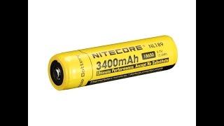 видео Аккумулятор NiteCore 18650 Li-ion 2600mAh|Fonarik.shop