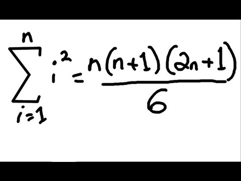 """Sum of the squares of """"n"""" Consecutive integers - Simple Proof"""