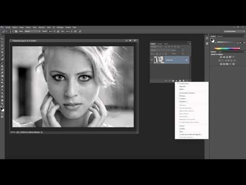 06- Photoshop - Noir et Blanc - technique mode Lab