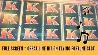 FULL SCREEN * GREAT LINE HIT ON FLYING FORTUNE SLOT * SunFlower Slots
