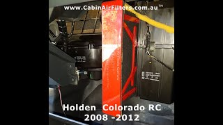 how install a cabin air filter on a Holden Colorado 20082012