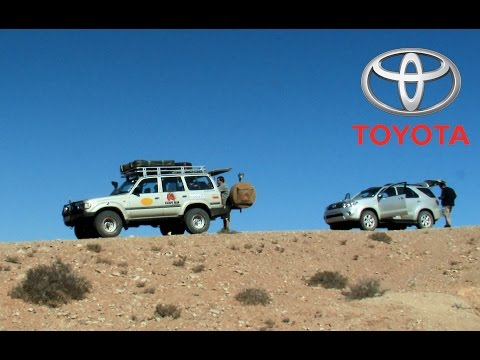 Toyota Land Cruiser and Fortuner explore African desert mountains. Part 3