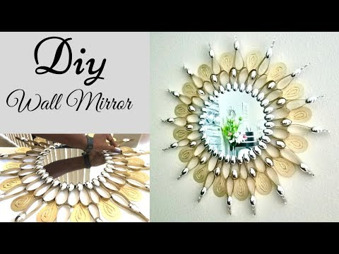 Diy Quick and Easy Wall Mirror Decor using Cereal Boxes!| Simple and Inexpensive Wall Decor!