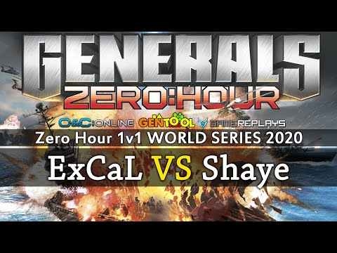 Generals Zero Hour 1v1 ExCaL VS ShayeSaintJohn - WORLD SERIES 2020 - Quarter Final