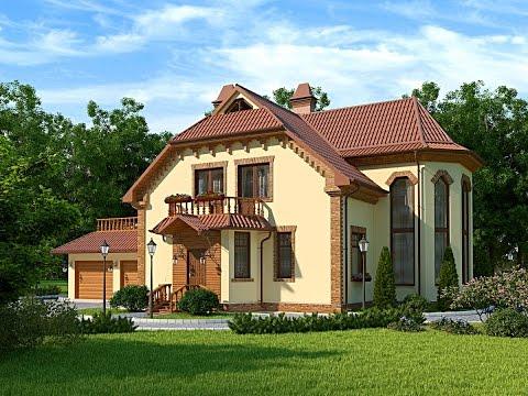 Проекты красивых домов и коттеджей