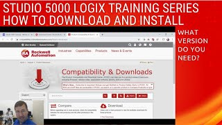 How to Download and Install Rockwell's Studio 5000 / RsLogix 5000 and What Version do You Need.