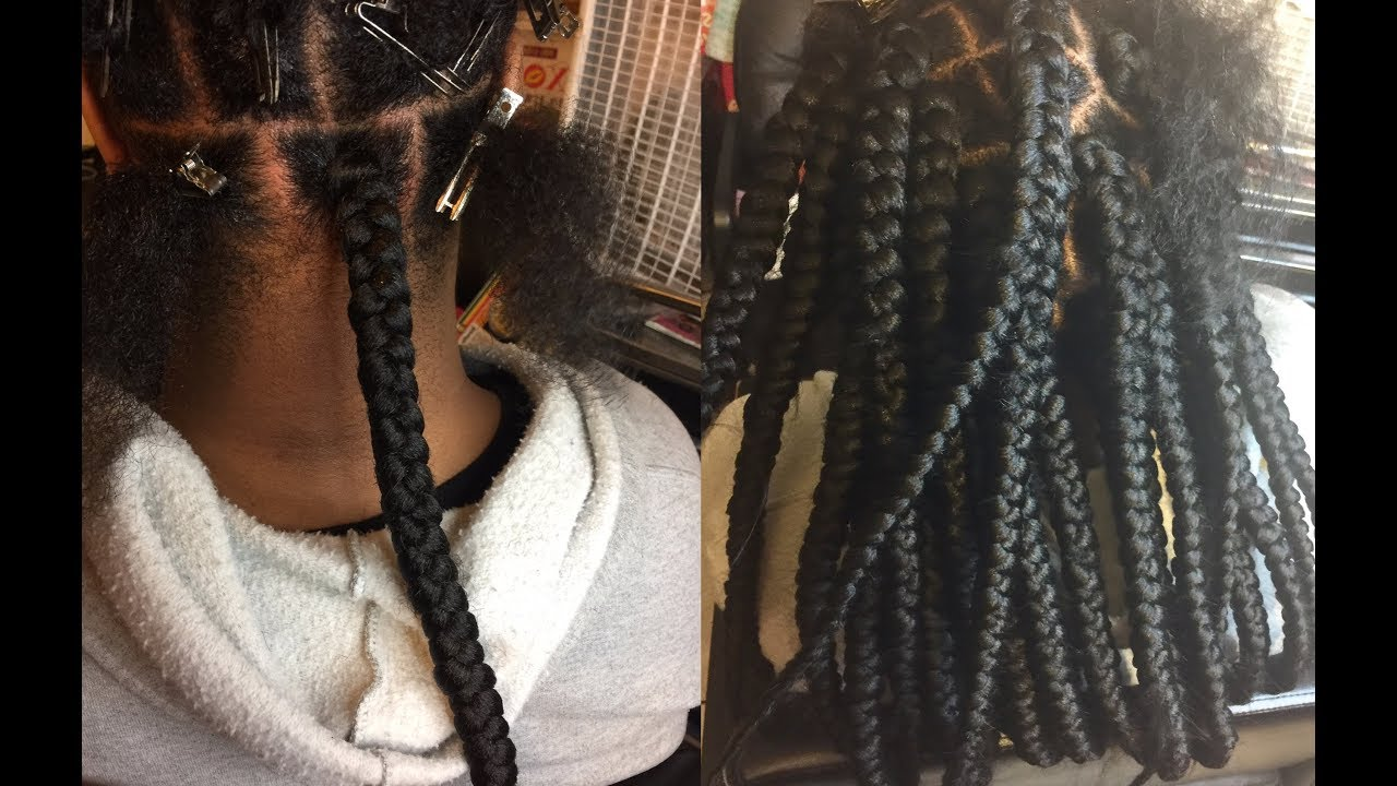 Getting REAL Jumbo Braids   8 Packs of Outre XPression ...