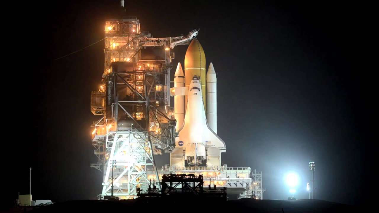 Space shuttle discovery launch pad footage from the eve of - 4k space shuttle ...