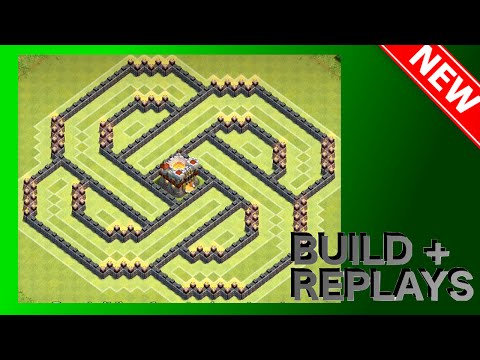 SUPER COOL Th11/Th10 Base! The Spiral! (3D Base) [Build + Replays] | Clash Of Clans (CoC)