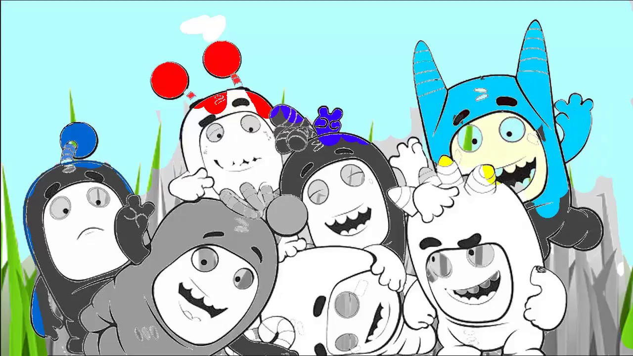 Oddbods coloring book oddbods coloring pages for kids hibaby