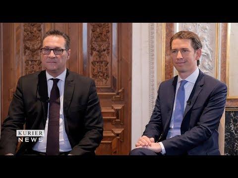 Helmut Brandstätter im Gespräch mit Sebastian Kurz und Heinz-Christian Strache