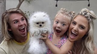 We Surprised Our Daughter With Her First Puppy!!! Cutest Reaction Ever