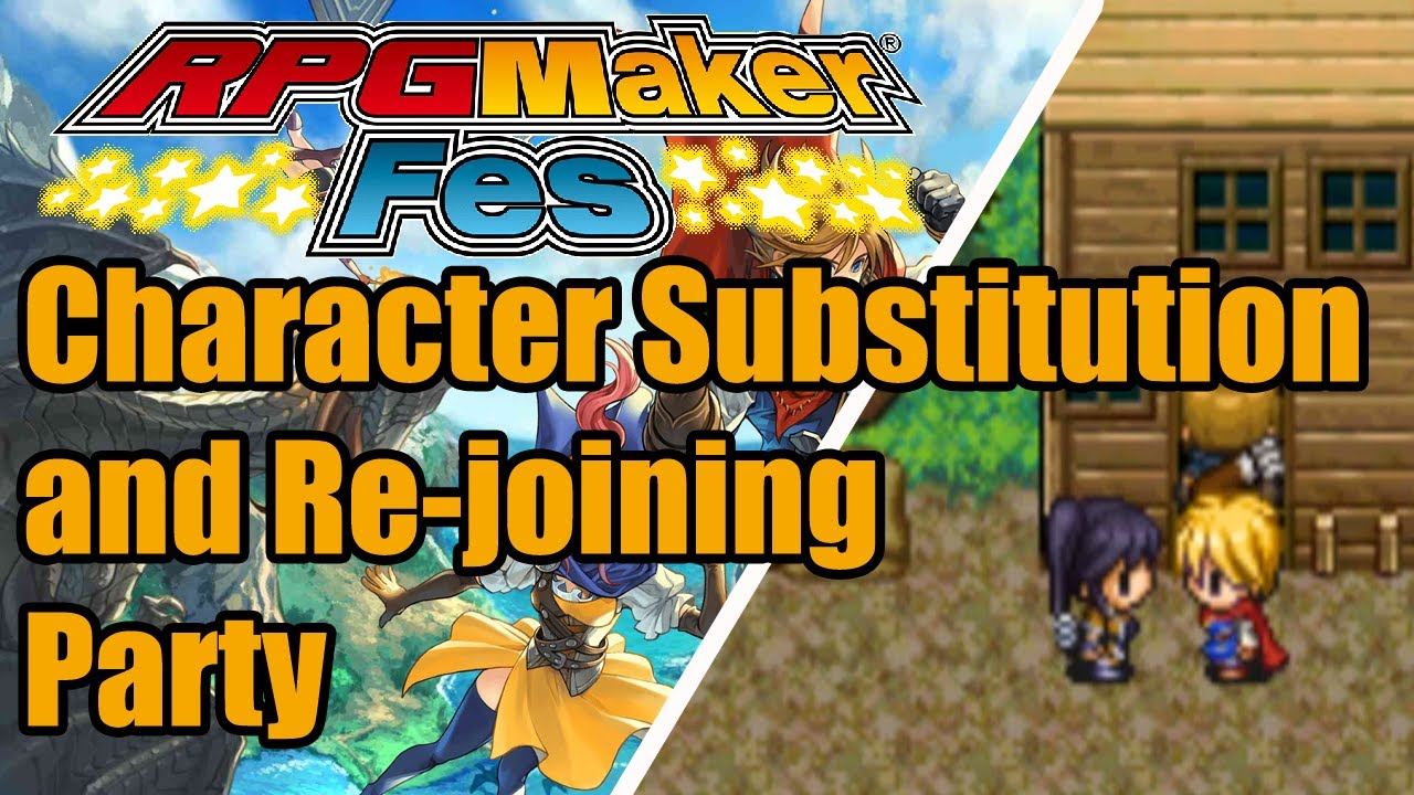 RPG Maker FES - Character Substitute & Re-Joining Party - Tutorial B  [Nintendo 3DS | NIS America]