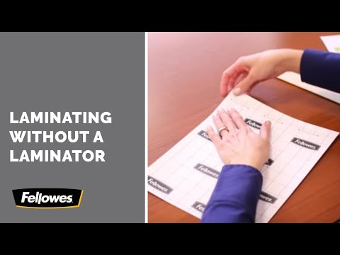 Fellowes Self Adhesive Instructions