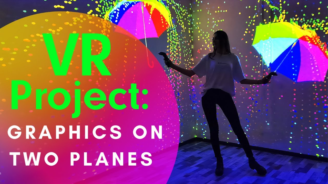 Interactive Generative Graphics on Two Planes, VR Project by ETERESHOP