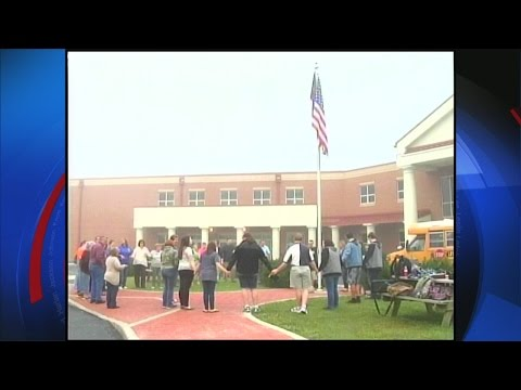 Students gather at Letcher County Central High School for See You at the Pole