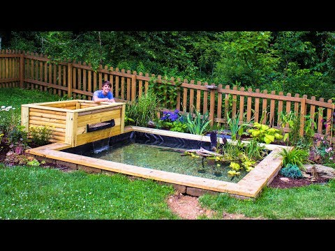 DIY Backyard Garden Pond