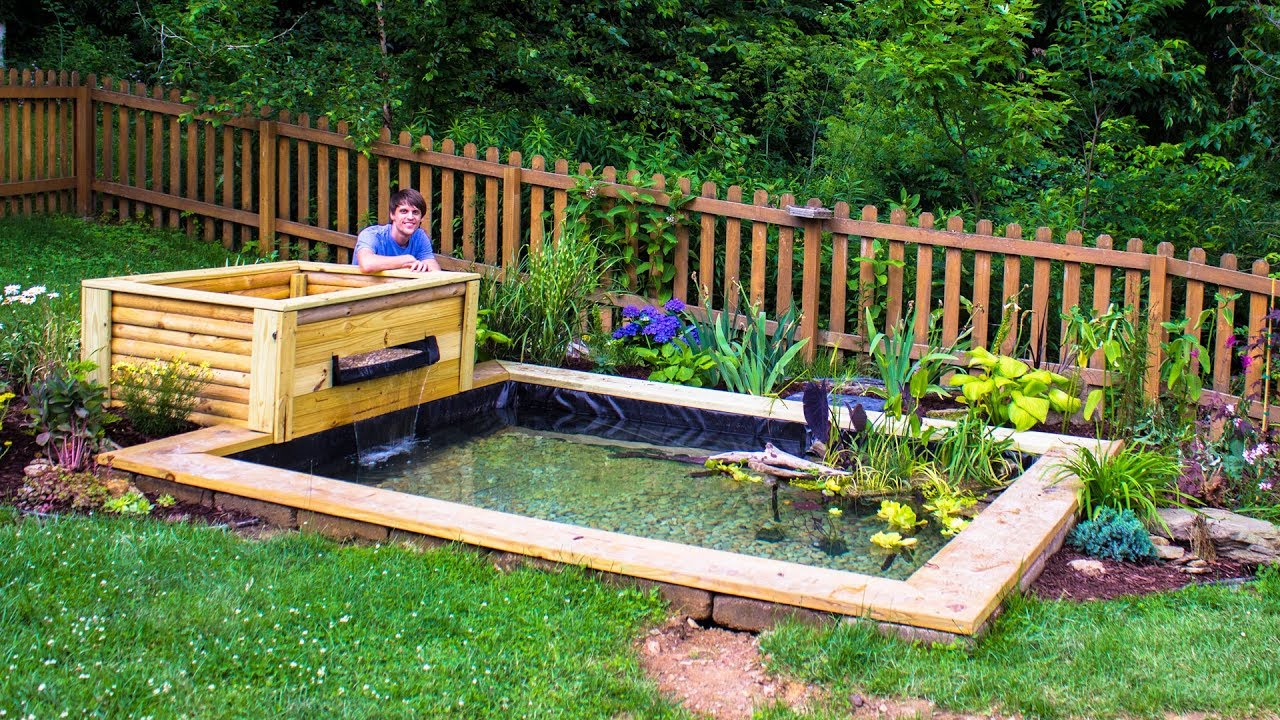 Diy Backyard Garden Pond Youtube