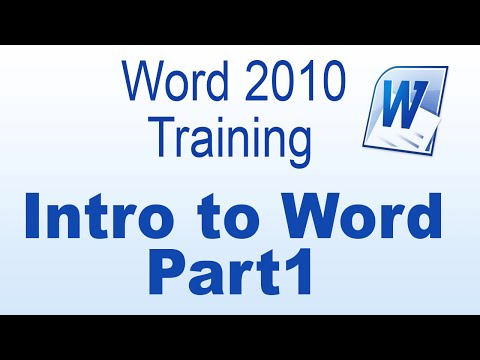 Introduction to Microsoft Word 2010 - Part 1