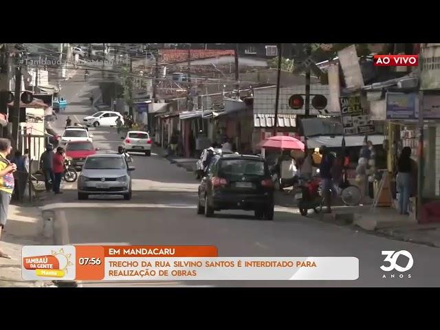 Trecho da rua Silvino Santos é interditado para realização de obras- Tambaú da Gente Manhã